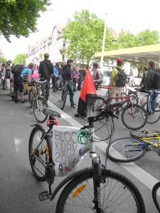 Blockupy Freiburg: Bericht zur Fahrraddemo am 16. Mai in Freiburg